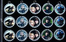 15 How to Train Your Dragon Flat Special Silver Bottle Cap Necklaces Set 1