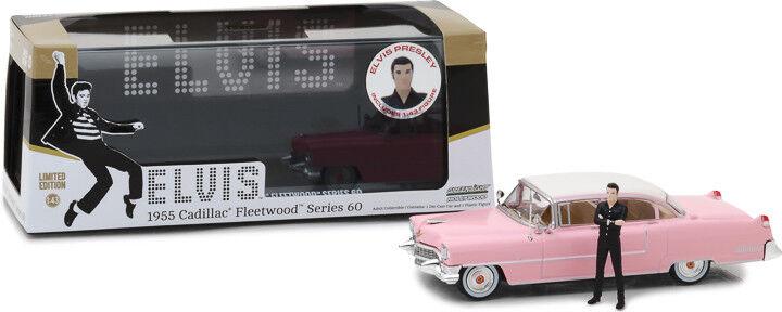 1 43 43 43 1955 Cadillac Fleetwood de Elvis Presley rosado Cadillac Figura de Elvis Presley 900ea0