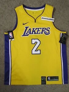 fd3cc4b8972d NWT Nike Swingman Icon Los Angeles Lakers Lonzo Ball  2 Jersey Sz XL ...