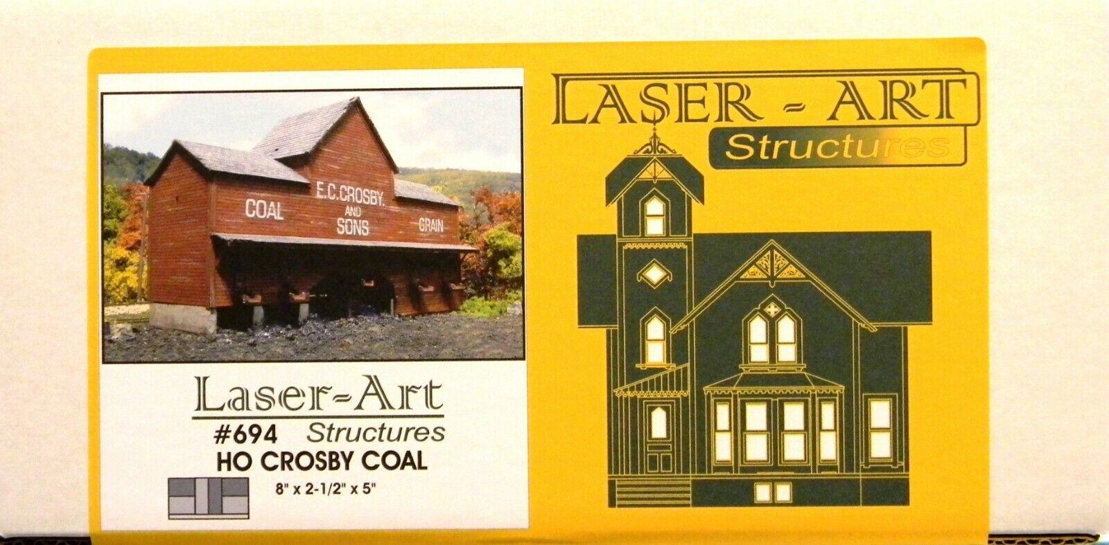 el más barato Nuevo Nuevo Nuevo En Caja Ho Branchline Laser-ART  694 Kit de Cochebón Crosby  cómodo