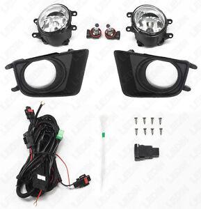 Clear Lens Bumper Fog Light Assembly For 12-15 Toyota Tacoma Switch Bulbs Bezel