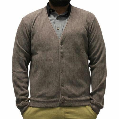 Classics By Palmland Men/'s Long-Sleeve Links Cardigan Sweater