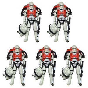 """Lot of 5 Star Wars The Force Awakens Stormtrooper 3.75/"""" Loose Action Figure"""