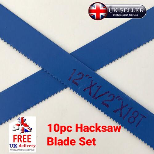 "6pc Hacksaw Blade Set 12/""18-24 TPI 300mm Steel Tool DIY Sharp Easy Cut Blue"