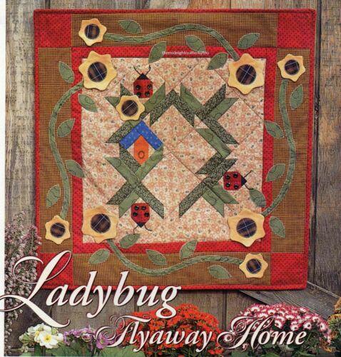 Ladybug Flyaway Home Quilt Pattern Pieced//Applique ND