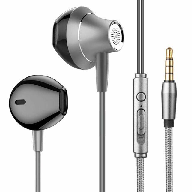 Earphones In Ear Metal Bass HiFi Music Mic Wired For iPod ...
