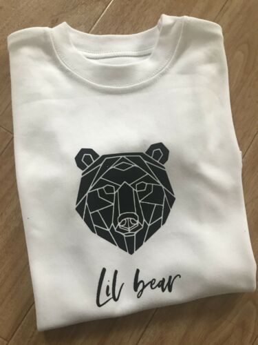 Lil Bear Or YOUR NAME Aged  2-3 Years Tshirt Boys Girls Top Kids Toddlers Little