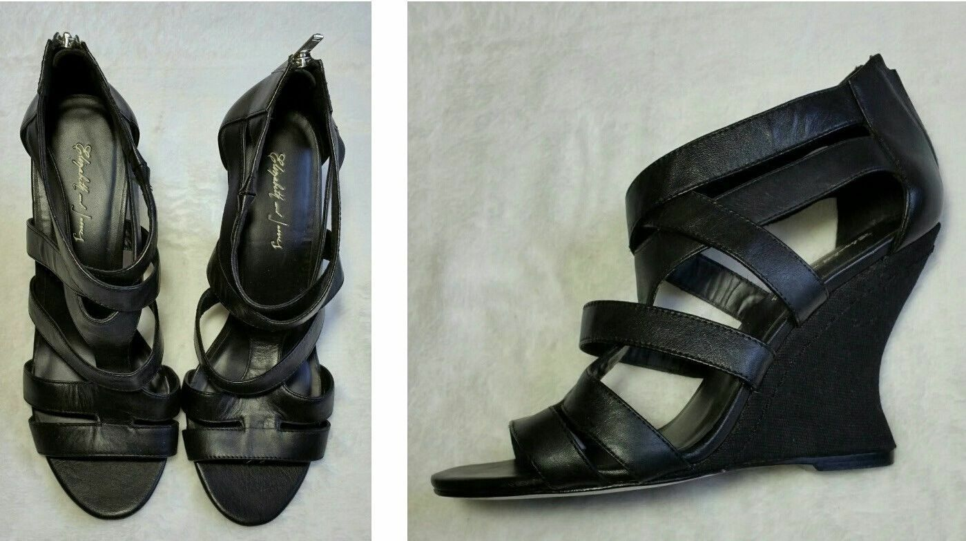 298 ELIZABETH AND JAMES BLAST FANTASTIC CONDITION STRAPPY WEDGE SANDALS 6