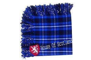 Hs Kilt Highland Fly Plaid Gallician Tartan Laine Acrylique Purled Frange Avoir Une Longue Position Historique
