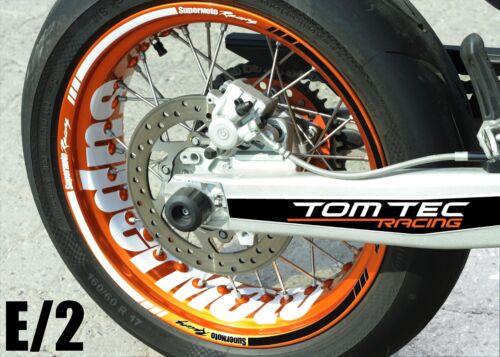 Wheel Sticker Supermoto Suzuki DR 125 650 DRZ 400 SM RMZ 250 450 Rim Stickers