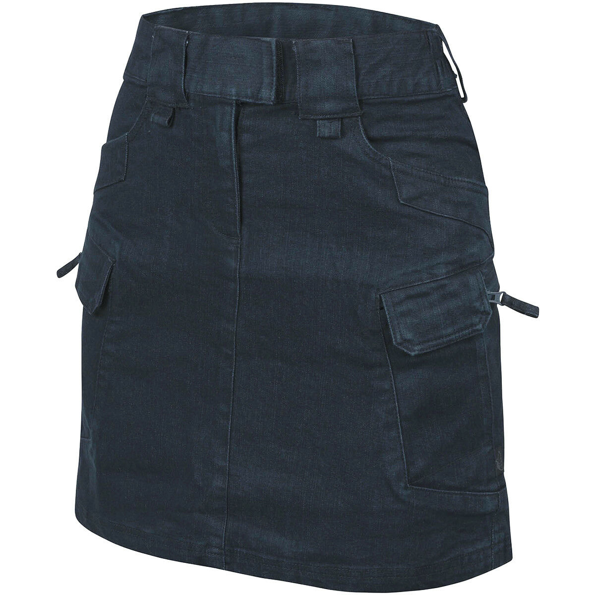 Helikon Women's Urban Tactical Skirt Tactical Hiking Jeans Army Dress Denim bluee
