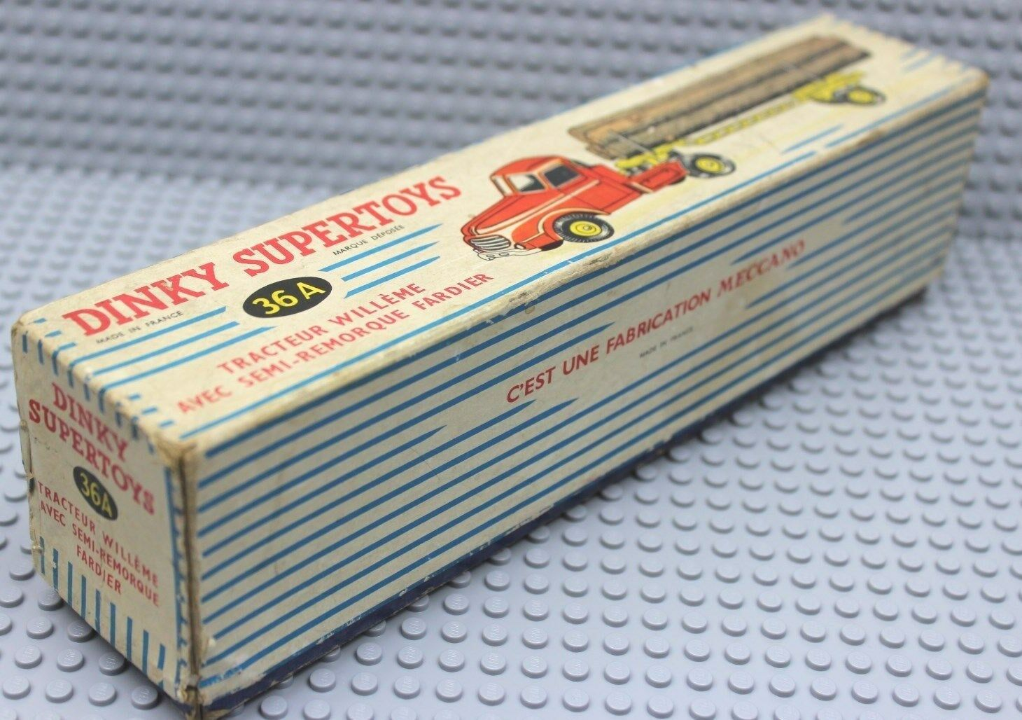 Dinky Toys ® 36 a Tracteur Willeme avec OVP Box 50 60er