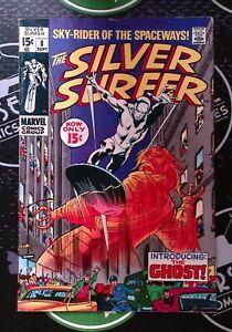 SILVER SURFER #8 1969 Silver Age Marvel Comics Mephisto app!
