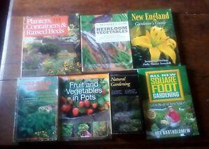 Garden gardening books Book Lot 1 -- container heirloom urban homesteading etc.