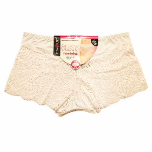 2 Pack Ladies Lacy Boxer Underwear Special Soft Knickers Panties Briefs Shorts