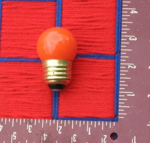 NEW orange S11 scoreboard /& outdoor sign 7.5w medium E26 LIGHT BULB 7 /&1//2 watt