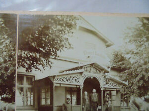31114a Stereofoto Elbegasthof H. Voigt Schandau ? 1900 GroßEr Ausverkauf