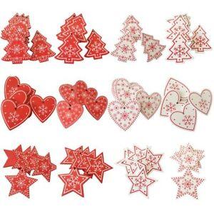 10Pcs-Natural-Wood-Christmas-Ornaments-Pendant-Hanging-Gift-Xmas-Tree-Decor