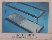 Perfect-a-flo Undergravel Fish Aquarium Filter 36 Flat Back Hex