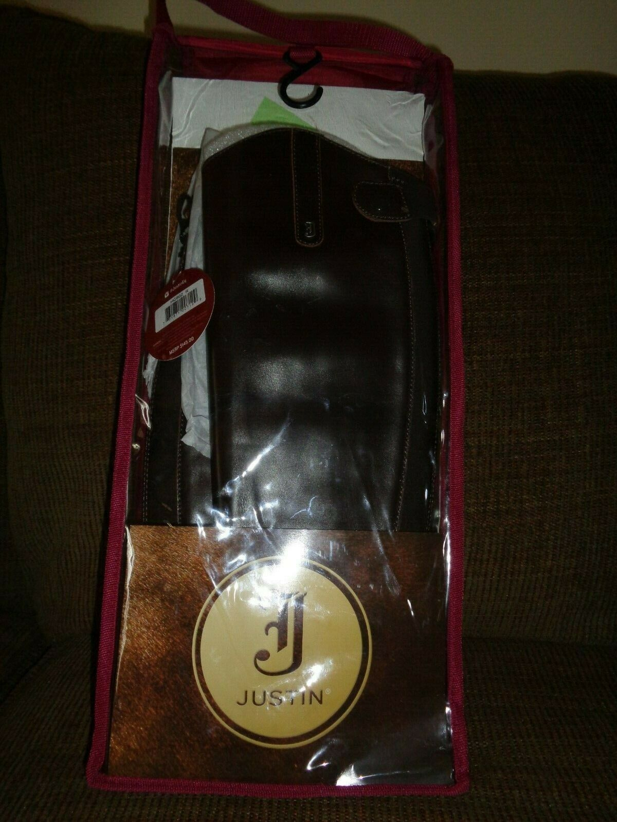 JUSTIN FULL  GRAIN LEATHER BROWN HALF CHAPS HC602 R MEDIUM  factory direct and quick delivery