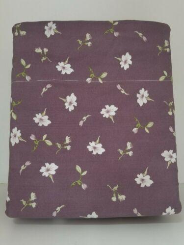 Ultra Soft 4 PC sheet set King Size printed waterbed Sheets Purple Iris