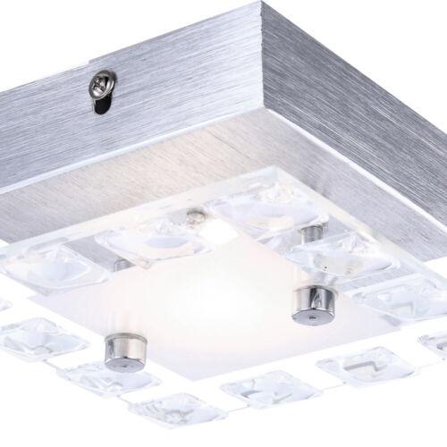 Design LED Wand Beleuchtung Dielen Alu Glas Kristall Lampe Wohn Zimmer Leuchte