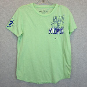 New-Aeropostale-Womens-Relaxed-Tee-T-Shirt-Size-Medium-Cotton-Green-NWT