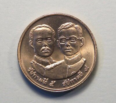1992 Thailand 2 Baht Coin Ministry of Agriculture King Rama 9 /& 5 Chulalongkorn