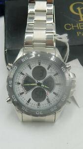 Details zu CP CHEIFEL Paris Herren Armbanduhr Chronograph Uhr Edelstahl Armband, NEU