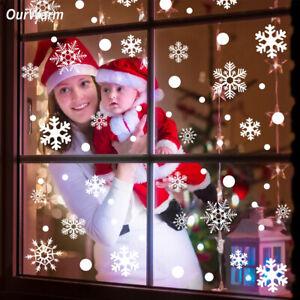 48Pcs-Christmas-Snowflake-Clings-Decal-Window-Wall-Stickers-Vinyl-Art-Xmas-Decor