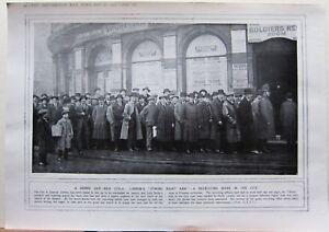 1915 Première Guerre Mondiale G.Mondiale 1 Imprimé Londre Recrutement Scène City uIHIfWRD-08035906-774790431