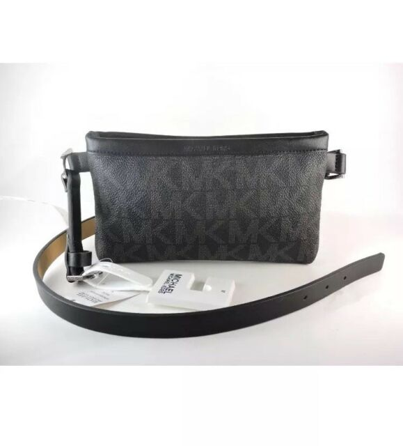 626b2341fca1 ... coupon michael kors signature mk fanny pack belt medium black aafd2  52066