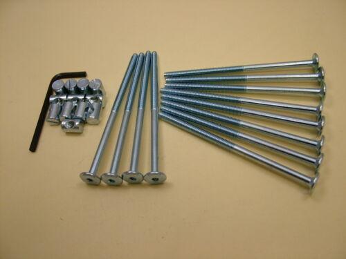 Bed allen key /& 14mm barrel nut=25 items cot bolts 12 sets of M6 x 115mm bolt