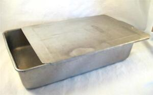 Vintage Mirro Aluminum Cake Pan With Sliding Lid 9 X 13