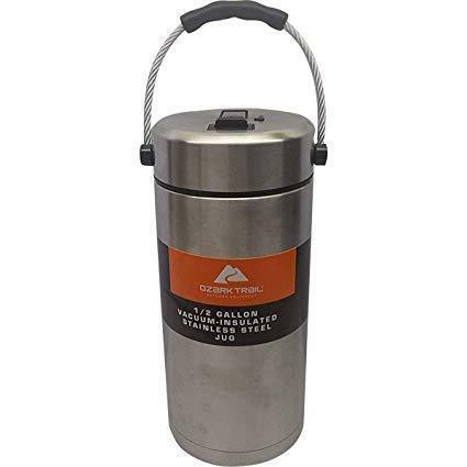 NEW Ozark Trail 1//2 Gallon Vacuum Insulated Stainless Steel Tumbler// Jug