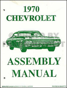 1970 chevy assembly manual impala caprice bel air biscayne ss rh ebay com 1967 Impala SS 2008 Impala SS