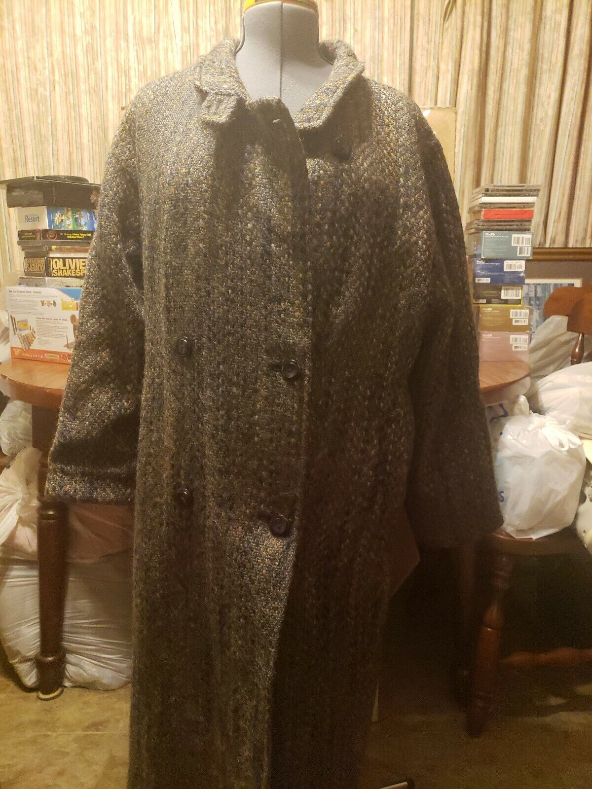EUC Fougstedts Sweden Coat 100% Wool Long Button Lined Made in Finland FREE SHIP