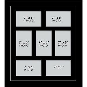 Large Multi Picture Photo Aperture Frame 7 X 5 Inches Size With 7
