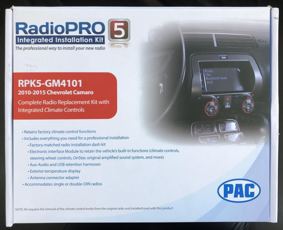 Pac Rpk5 Gm4101 Chevrolet Camaro Integrated Radio Replacement Kit Ebay New Car Stereo Factory Interface Module Wiring Harness Norton Secured Powered By Verisign