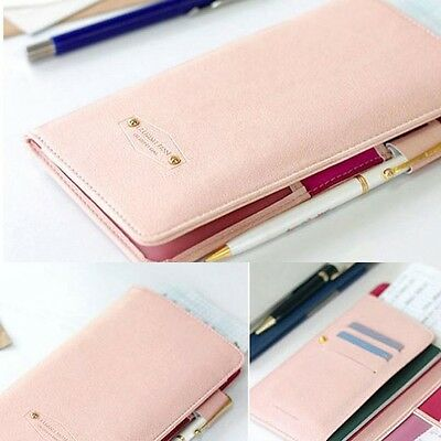 Journey Travel ID Card/Passport Holder Wallet Purse Organizer Case Cover Pink