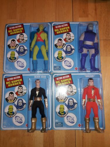DC RETRO Action Super Heroes Wave Set Of 4 Shazam Manhunter Darkseid Black Adam
