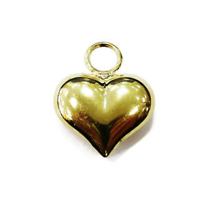 14K-Yellow-Gold-Puffed-Heart-Necklace-Pendant-Charm-1-0