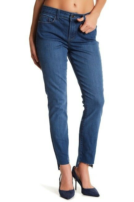 NYDJ Alina Raw Step Hem Jeans Legging M44Z2068 Valencia bluee Size 10