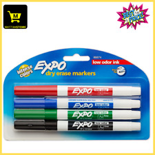 Expo 86674k Low Odor Dry Erase Markers Fine Point Assorted Colors 4 Count