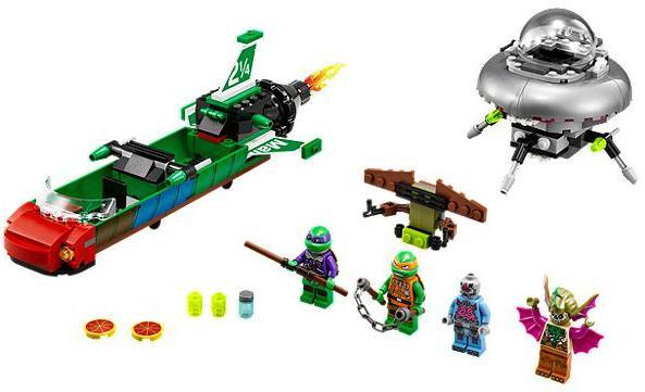 LEGO Ninja Turtles Set 79120  T-Rawket cielo Strike 2014 completo.  merce di alta qualità e servizio conveniente e onesto