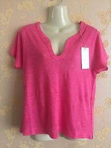 Zadig-amp-Voltaire-Twist-Lin-Women-039-s-100-Linen-Pink-Top-Size-S-BNWT
