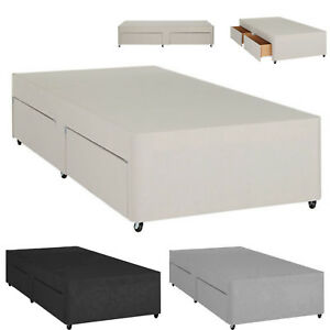 Single Divan Bed Base With Storage Colours Options 3ft