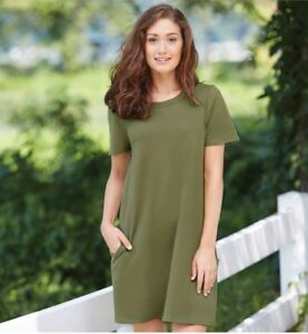728a3e94 NWT Mud Pie Olive Green Short Sleeve Hannah T-Shirt Dress Size Large ...
