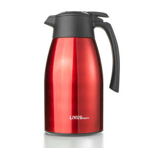 Premium Double Vacuum Insulated Coffee Carafe Stainless Steel Flask, 1.5L