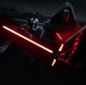 105cm Star Wars 7 The Force Awakens Kylo Ren Black Red LED Light lightsaber